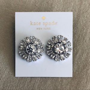 Kate Spade Crystal Flower Earrings